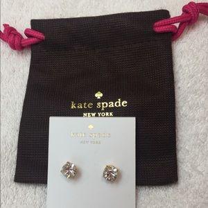 Kate Spade New Cueva Rosa Clear Stud Earrings